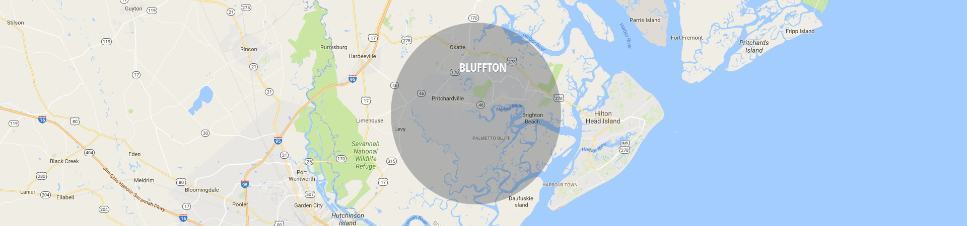 South Shore Bluffton Service area