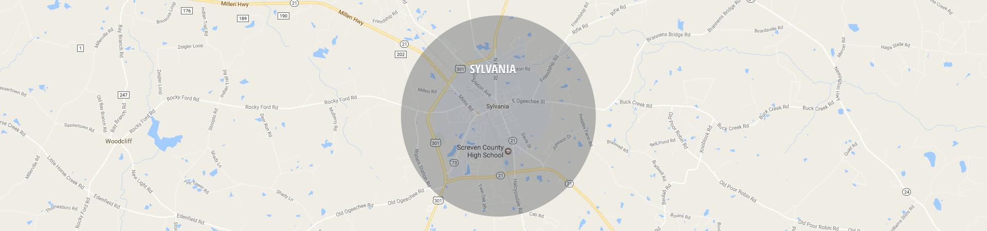 South Shore Sylvania Service area